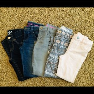 Lot of 5 Girls Jeans/Pants, Size 5